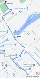 Route naar startbureau Spijkenisse